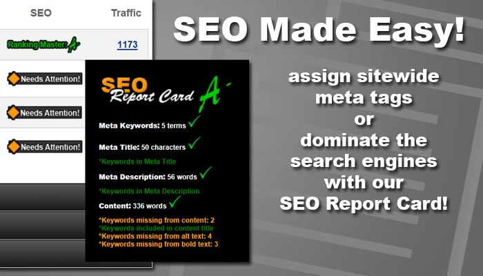Dominate the Search Engines with the MySiteCMS SEO Report Card!